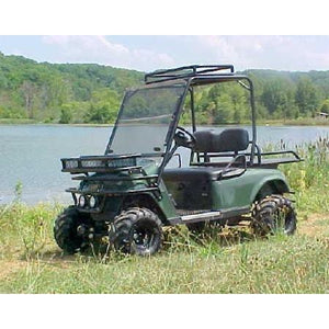 Grizzly Metalworks EZGO TXT Roll Cage Front Clays Basket Front Brush Guard Rear Big Buck Rack