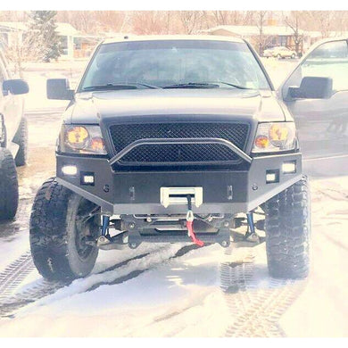 2004-2008 f150 front winch plate bumper   grizzlymetalworks.com