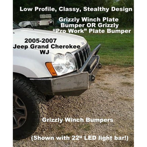 "2005-2007 Jeep Grand Cherokee WK Front Winch Plate Bumper- WELDED USA METAL! NOT CHINA ""BOLT TOGETHER"" SECTIONS!"