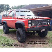 Load image into Gallery viewer, Chevy K5 K10 K30 front winch plate bumper   grizzlymetalworks.com