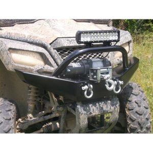 Honda Pioneer 500 Front Winch Plate Bumper-Front Winch Plate Bumper-Grizzly Metalworks-Pioneer 500-Grizzly Metalworks