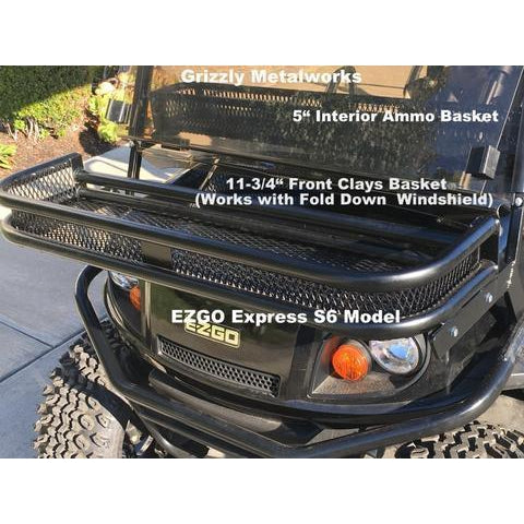 FRONT CLAYS BASKETS & RACKS for Golf Carts -Extra Heavy Duty; Standard 11-3/4