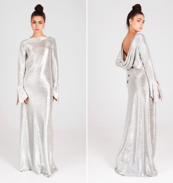 20184 silver Cocktail dress by Fely Campo