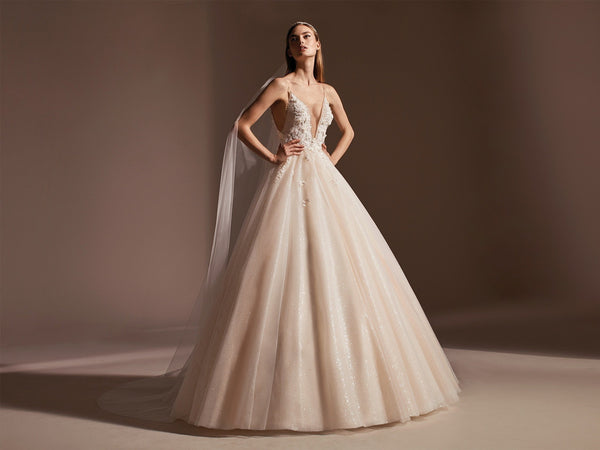 AGUSTINA Pronovias  shimmering ball gown