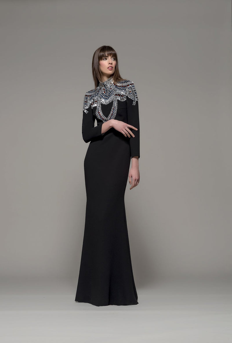 FUQUAY Gown by Olimpia Sanchis long sleeves Beading Isabel Sanchis