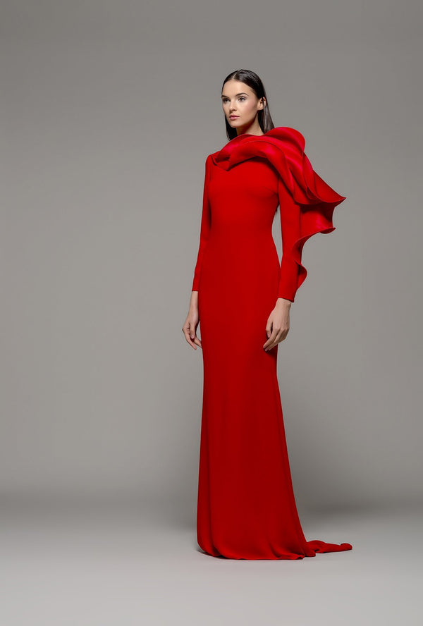 Olimpia Isabel Sanchis Red Casar Dress Mother of the bride