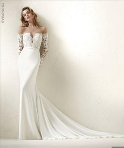 Pronovias Dracma a Mermaid Wedding Dress Sample Sale
