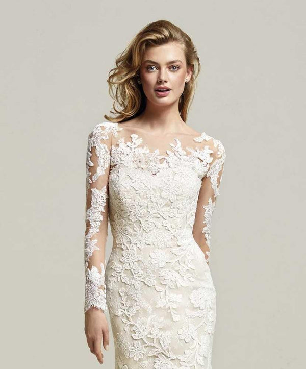 PRONOVIAS DRIATE BOLERO OFF WHITE LACE JACKET