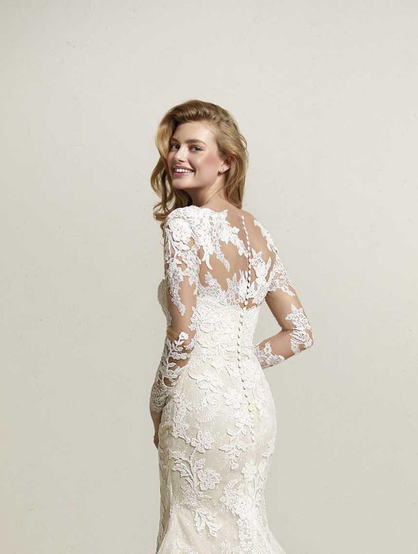 PRONOVIAS DRIATE BOLERO OFF WHITE CHANTILLY LACE JACKET