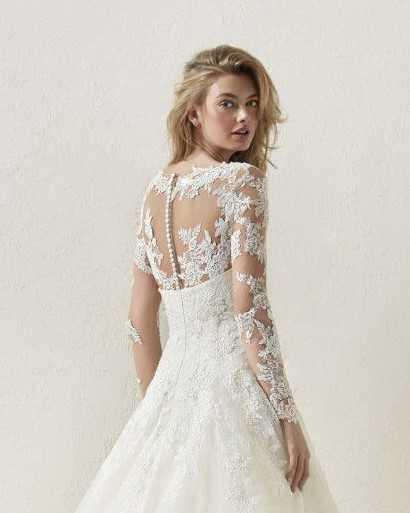 PRONOVIAS DRISELA OFF WHITE LACE JACKET