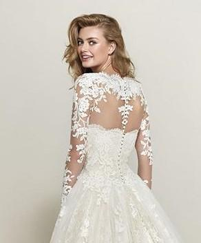 PRONOVIAS DRUMSA OFF WHITE  LACE JACKET BACK