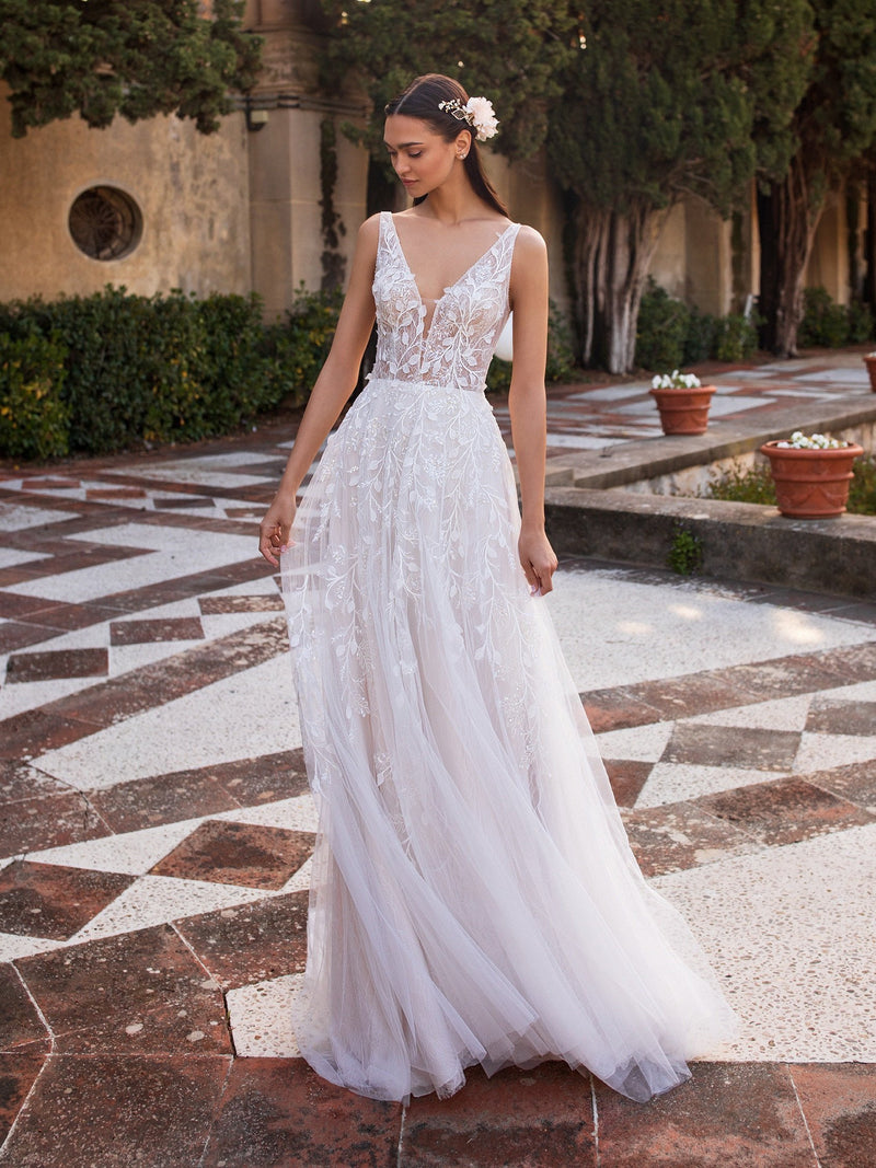 Pronovias Elara destination wedding gown
