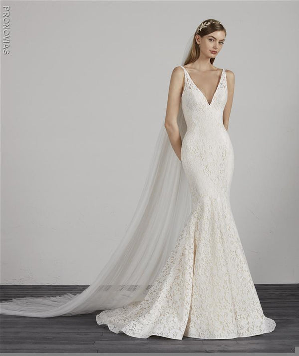 Pronovias MOSAICO wedding gown v-neck
