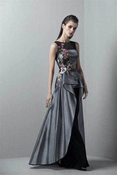 SAIID KOBEISY RE3380 Sleeveless long dress with an overskirt