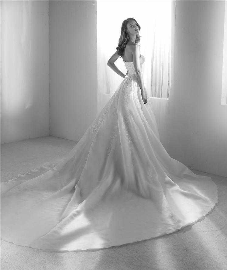 Rodas dress and overskirt Pronovias