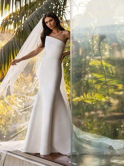 Pronovias DAY - Mermaid Wedding Dress in Mikado With Open Back