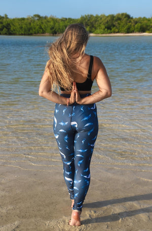 Load image into Gallery viewer, Celestial Oceans High-Waisted Leggings