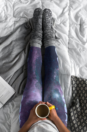 Load image into Gallery viewer, Many Purple Moons High-Waisted Leggings