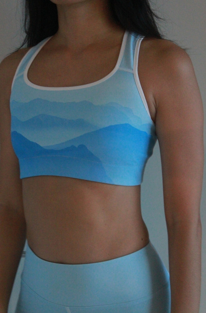 Load image into Gallery viewer, Misty Mountains Sports bra