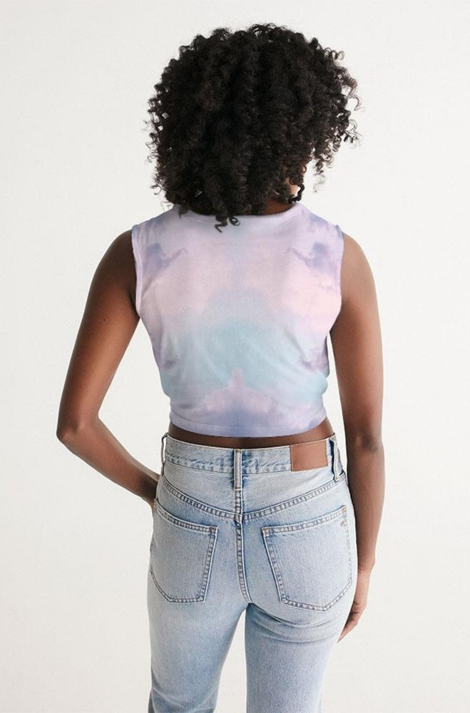 Pink Cloud Twist-Front Tank