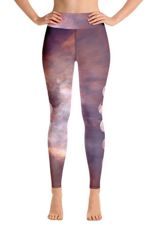 Load image into Gallery viewer, Pink Moonrise High-Waisted Leggings