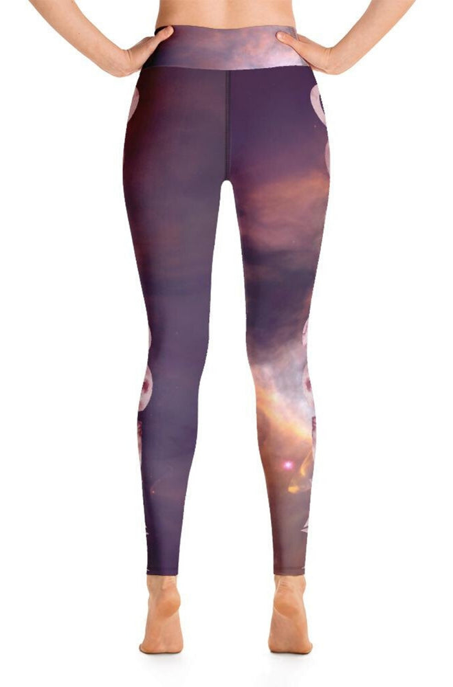 Pink Moonrise High-Waisted Leggings