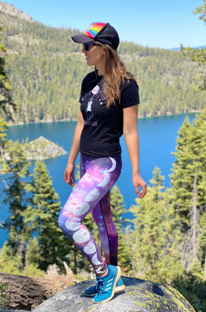 Load image into Gallery viewer, Rainbow Nebula High-Waisted Leggings
