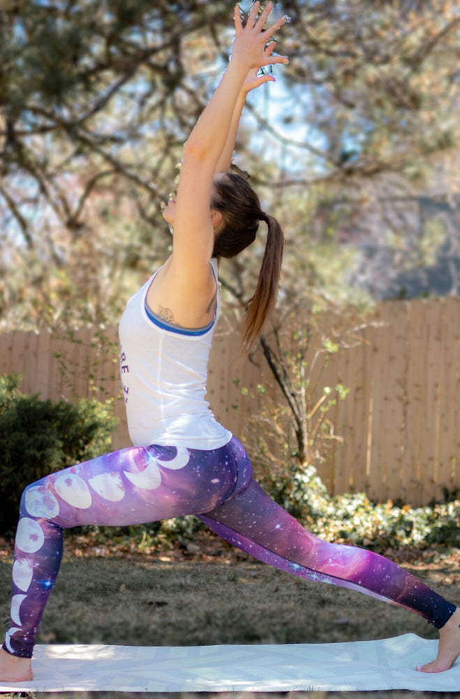 Rainbow Nebula High-Waisted Leggings