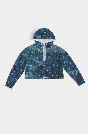 Load image into Gallery viewer, Silver Moons Cropped Windbreaker
