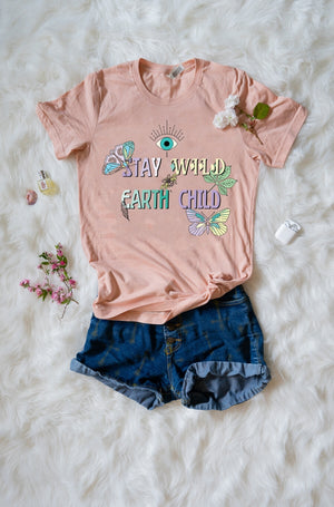Stay Wild Boyfriend Fit 100% Cotton Tee