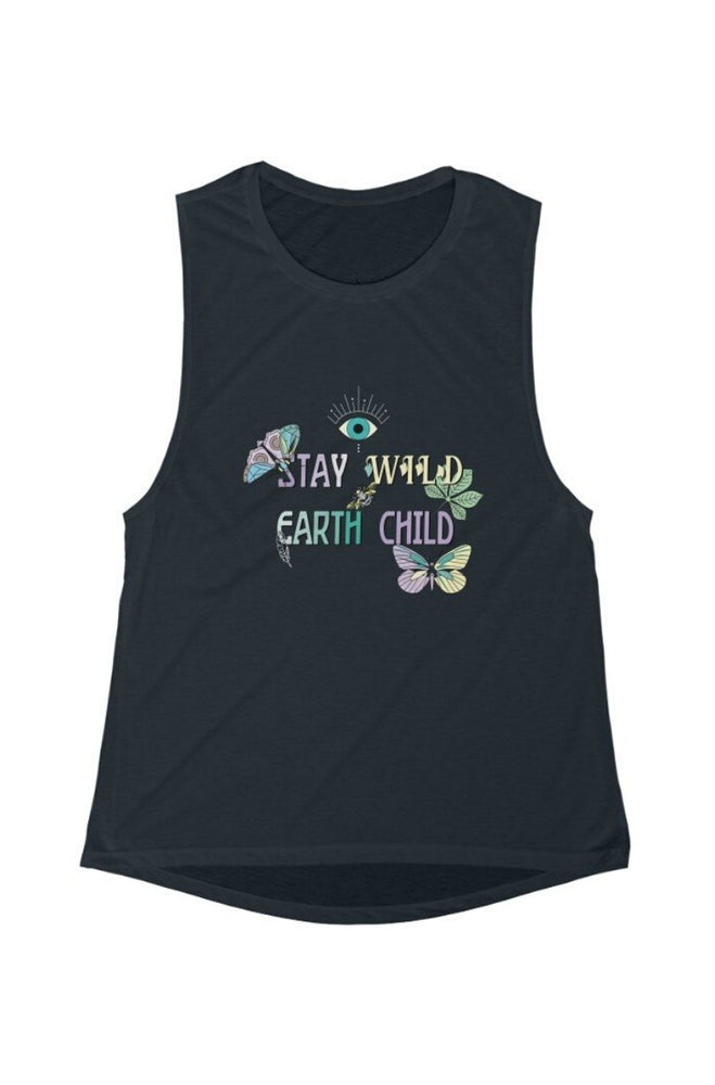 Stay WILD Black Muscle Tank