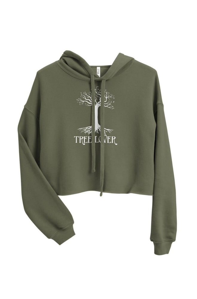 Load image into Gallery viewer, Tree Lover Crop Hoodie