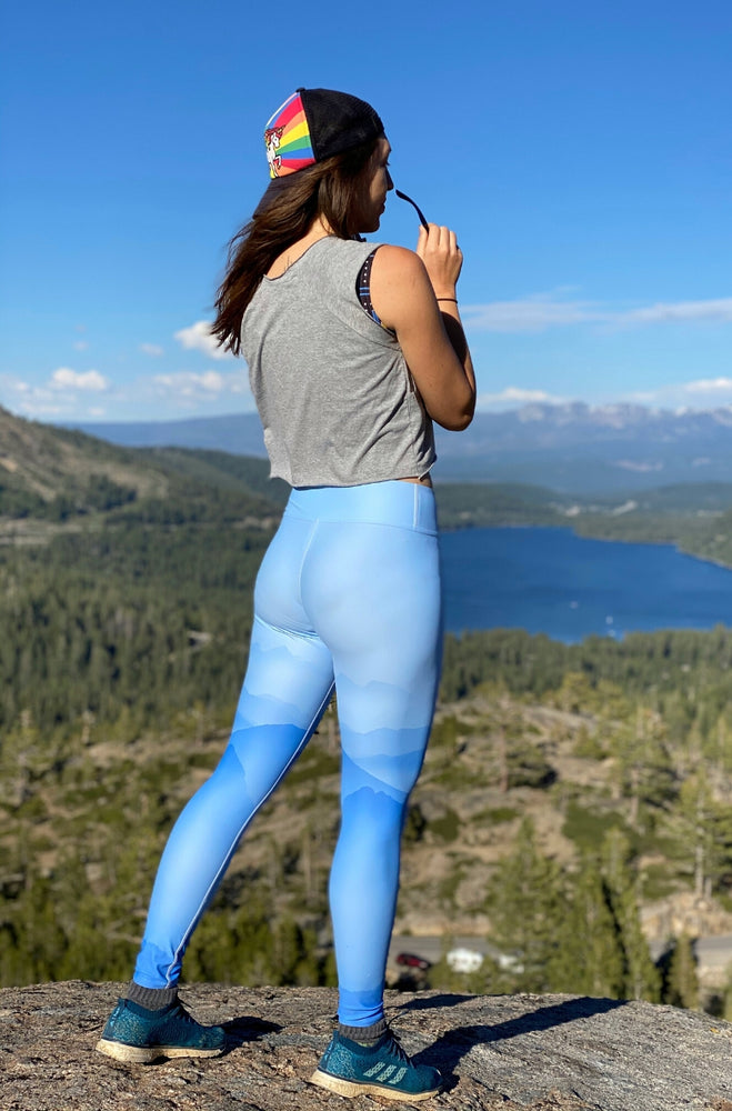Load image into Gallery viewer, Misty Mountains High-Waisted Leggings