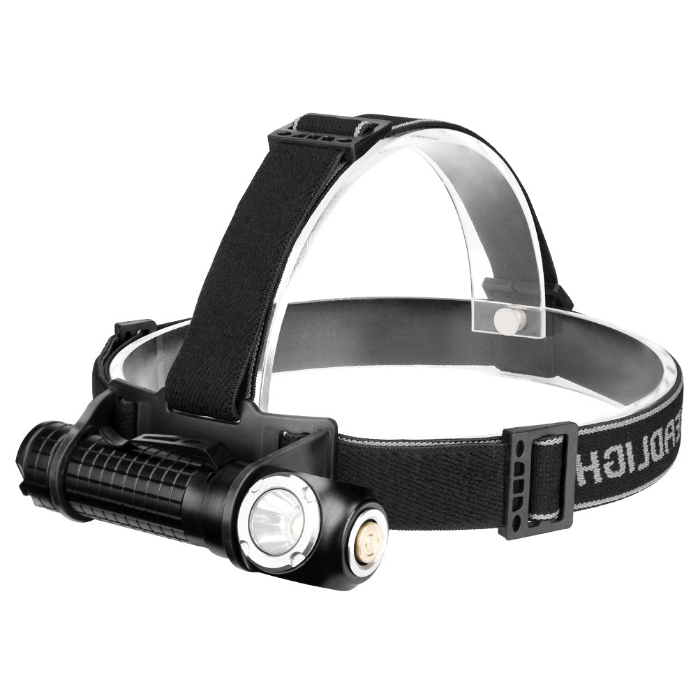 Headlamp 2-in-1 L2 kuat lampu lampu bersepeda outdoor USB Pengisian LED Senter - OCISTOK.COM