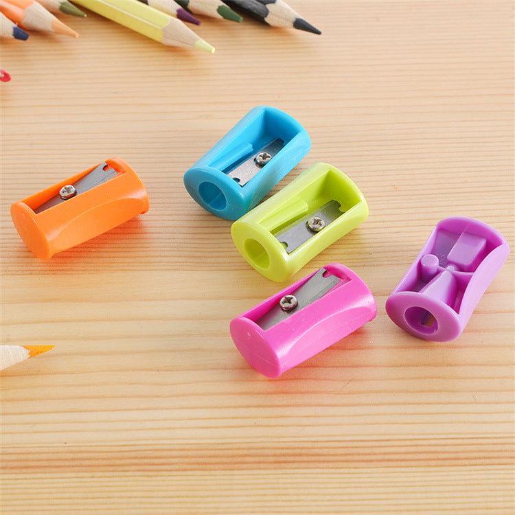 Rautan pensil kreatif rautan pensil alis manual pencil sharpener mini kartun satu lubang rautan pensil