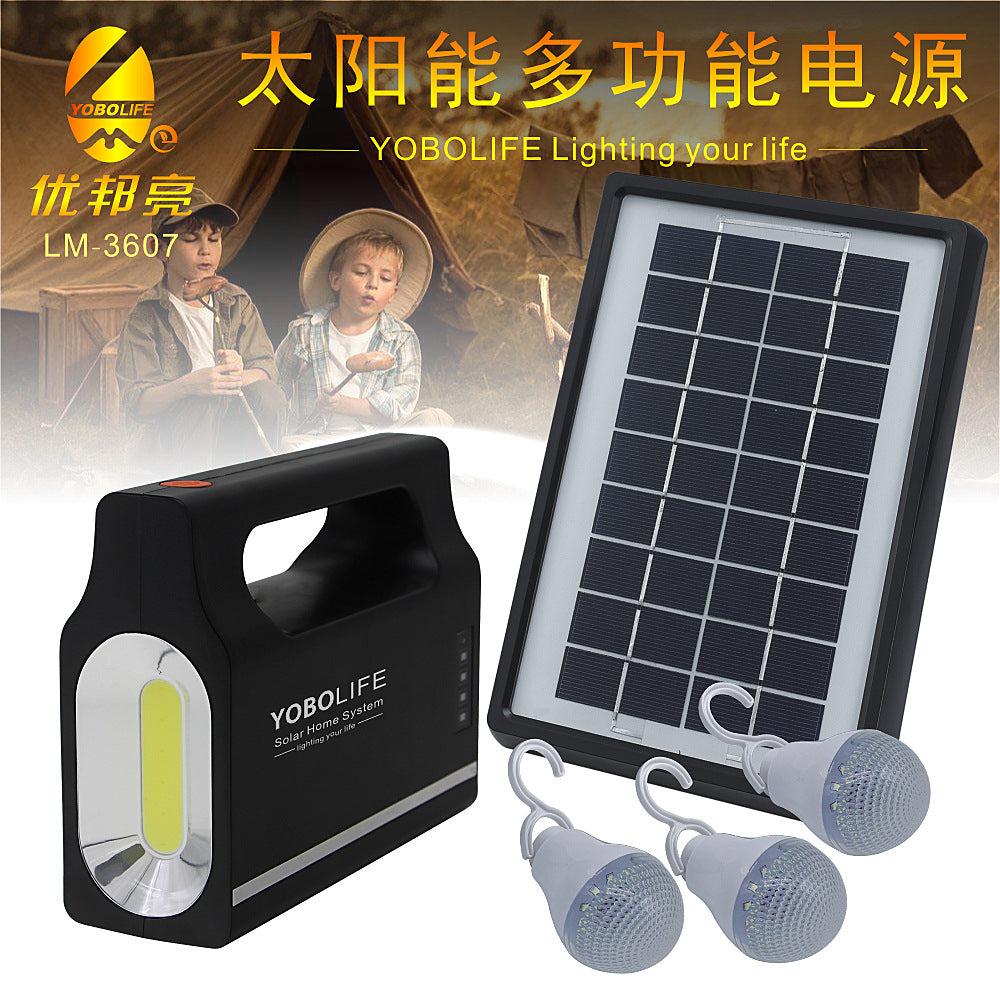 Senter Solar 6V kecil sistem solar light set dengan fungsi senter patroli senter emergency multi-fungsi