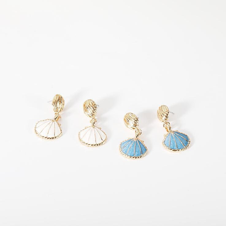 Anting aksesoris vintage gaya laut shell anting-anting fashion anting-anting keren anting-anting