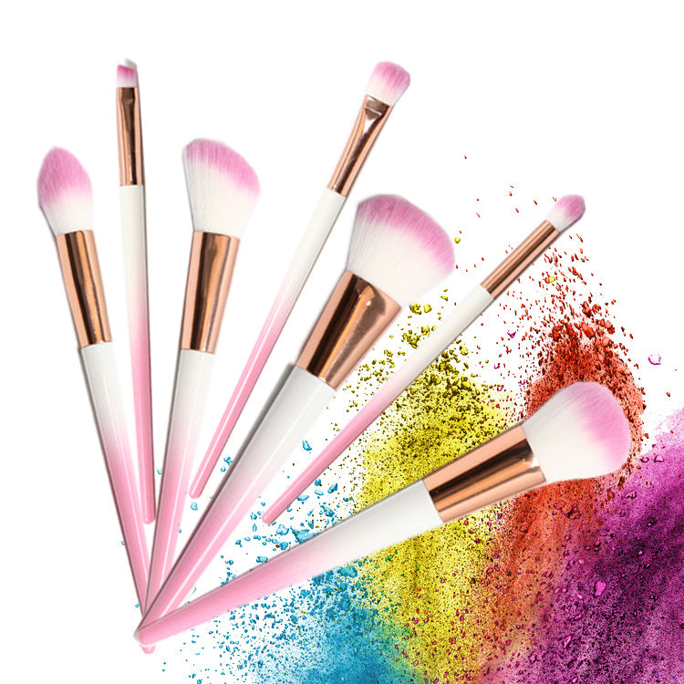 riasan sikat alat 7 PCs makeup brush set kuas eye shadow kuas blush on foundation sikat sikat alis perbaikan sikat - OCISTOK.COM