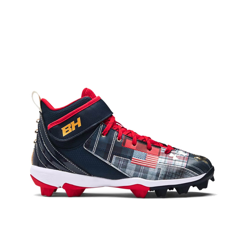Junior UA Bryce Harper Mid Rm Le Clea Baseball Shoes