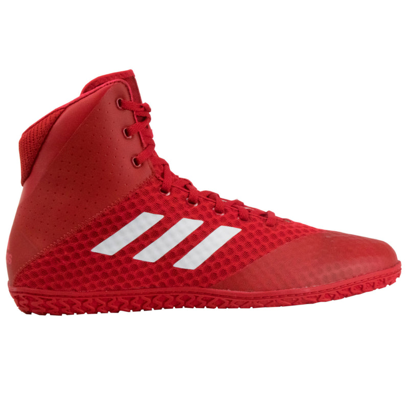 Mat Wizard 4 Red White Wrestling Shoes