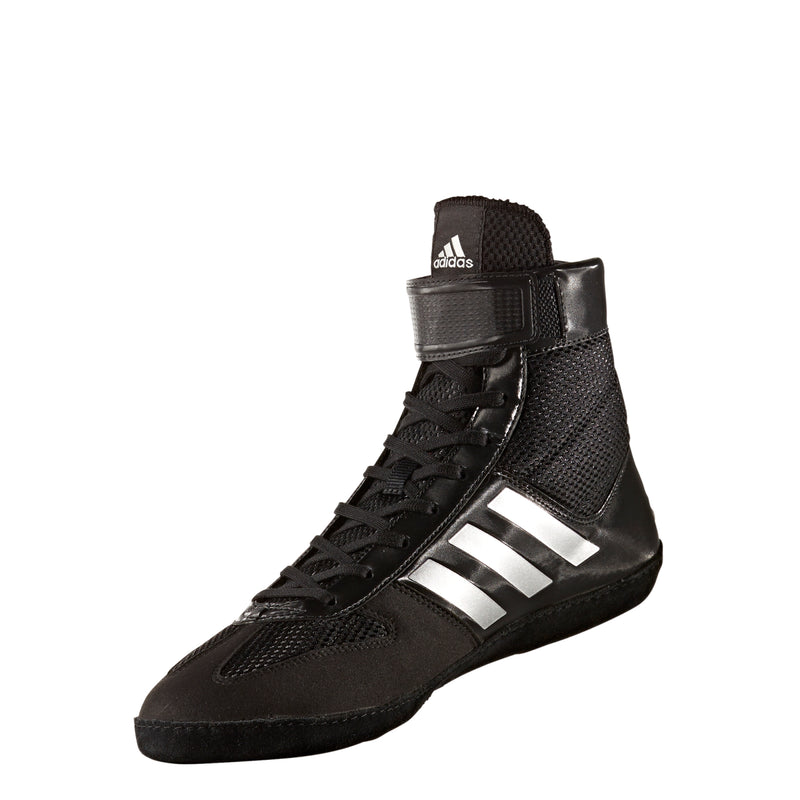 Combat Speed 5 Black/Silver Wrestling Shoes