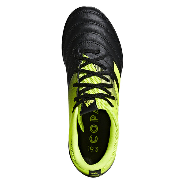 Copa 19.3 Turf J Black/Yellow Indoor Soccer Shoes