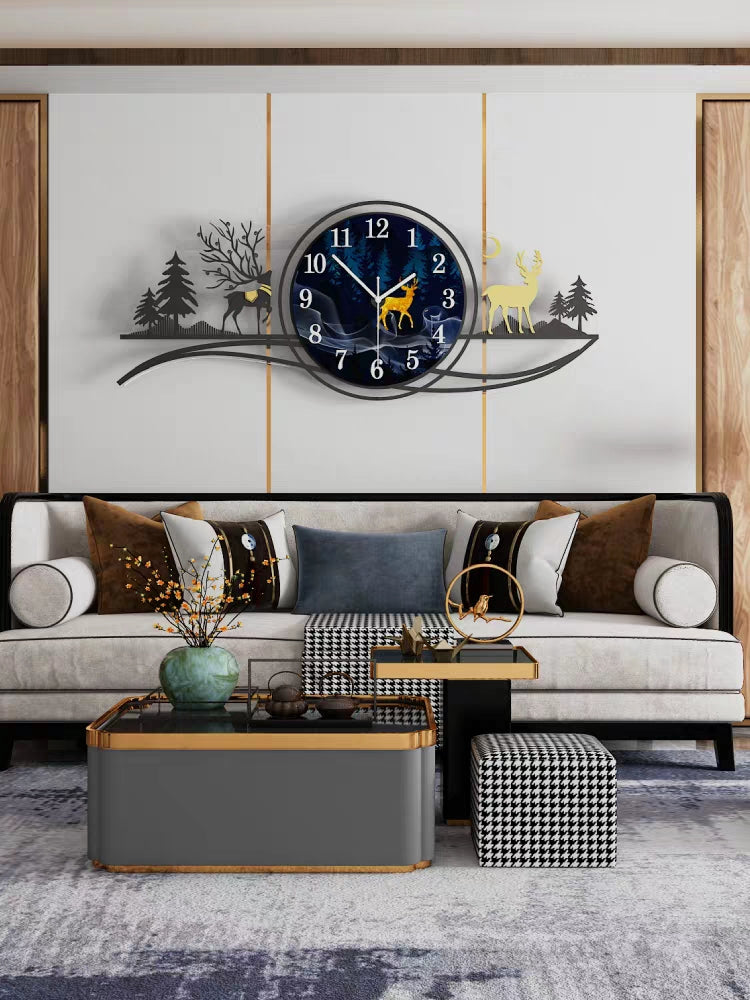 Forest Fawn Wall Clock