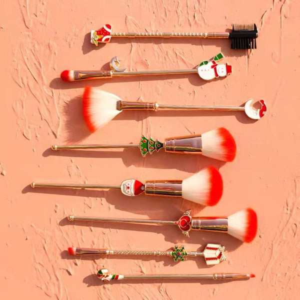 8pcs Christmas Makeup Brushes Sets Professional Soft 【🔥Free Shipping🔥】