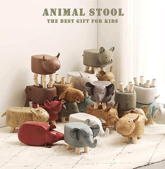 Animal Footstools, Ottomans Padded Cushion Footstool Pouffe Stool Rest Seat 【🔥Free Shipping🔥】