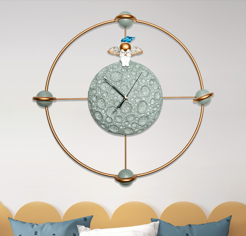 Astronautic dream wall clock