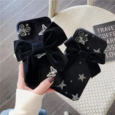 Black bow Phone Case【🔥code:2GET1🔥】