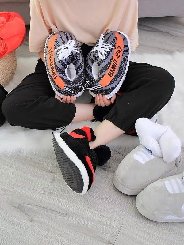 Couples Foam Slippers with Fur Collar, Fleece Lining & Anti-Skid Rubber Sole 【🔥Free Shipping🔥】