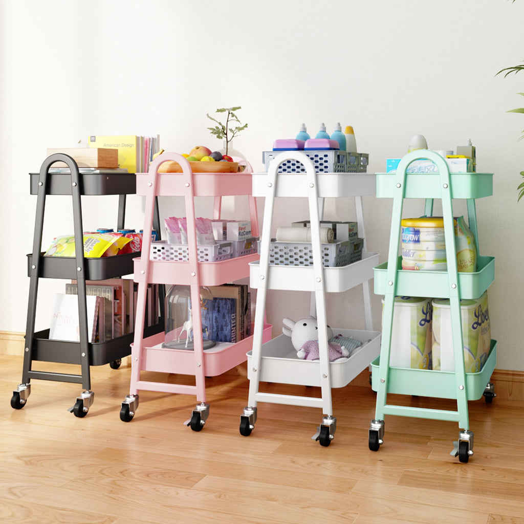 Storage Trolley Cart,3-Tier Multi-Purpose Trolley Organizer Cart with Casters 【🔥Free Shipping🔥】