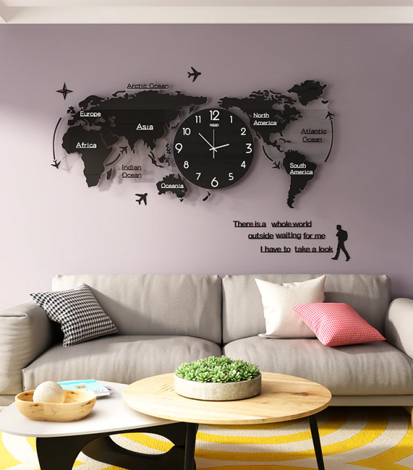 ART MAP MINIMALIST WALL CLOCK【🔥Buy 3 Get 1 FREE🔥】